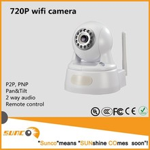 720P plug/play onvif ptz camera, wireless/wired indoor ip cam