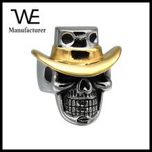 Hot Products 2017 Best Wholesale Quality Dallas Cowboys Gold Rings Stainless Steel Skull Ring