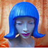 X-MERRY FLASH RUBBER WIG What a fashion statement. Way hip. Latex Wig