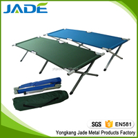 Portable high quality folding hiking camping cot ,popular firm easy folding single bed for camping/beach