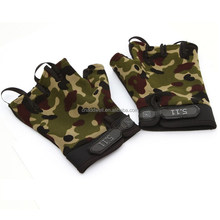 outdoor riding half finger camouflage bicycle gloves