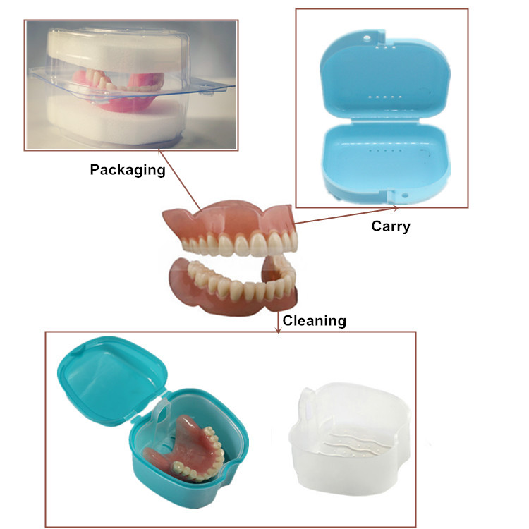 OEM Portable Durable Denture Box/Mouthguard Orthodontic Retainer Case