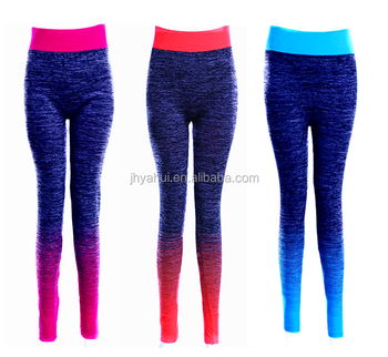 Lady's seamless spandex tight active wear fitness yoga pant