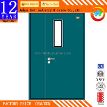 Cheap emergency exit fire rated door high quality glass fireproof door