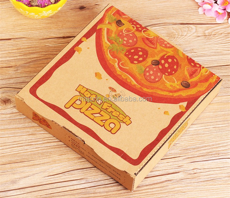 Wholesale Kraft Paper Pizza Packing Box