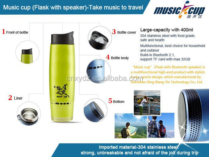 portable ultra thin stereo bluetooth portable mini microphone portable speaker