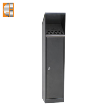 Outdoor stainless steel wall mounted cigarette bin