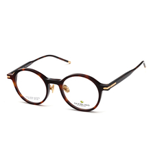 Ready stock 2018 new model acetate optical spectacle frame, brand design round eyeglasses