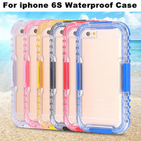 New Waterproof Case Clear Back Cover For iPhone 6S Diving Underwater Mobile Phone Bag