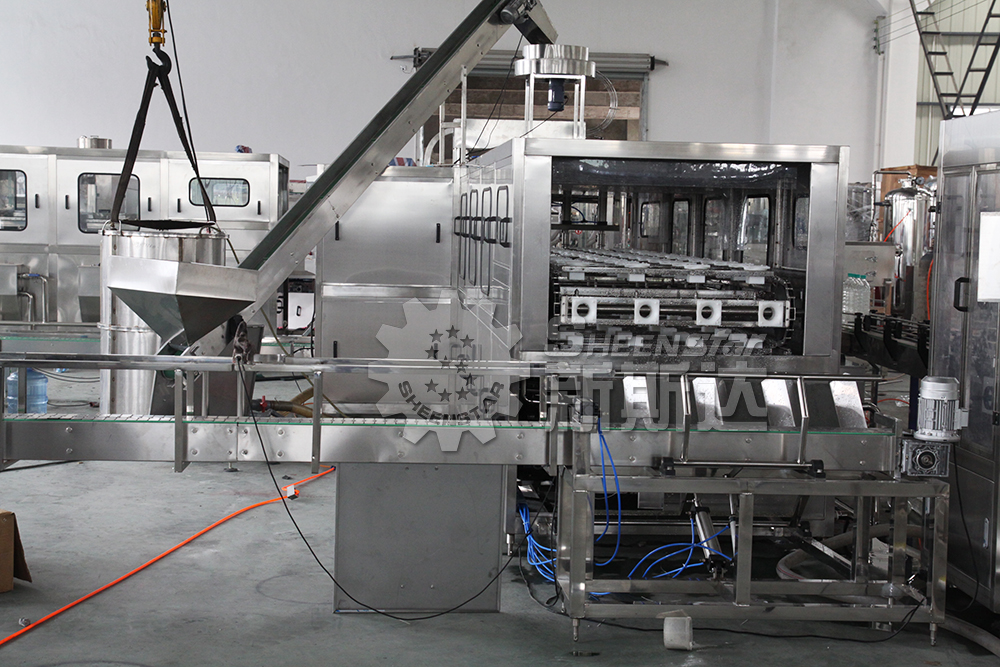 Automatic 5 Gallon Drinking / Pure / Mineral Water Filling Production Line