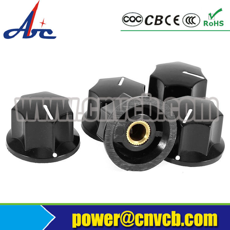 K23 OEM high quality black brushed and drawed aluminum machined control knobs