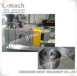 Continuous polymer melt filter -automatic mesh belt continuosu screen changer for plastic extruder