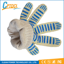 China work hand glove heat resistant cotton gloves with silicone grip dots