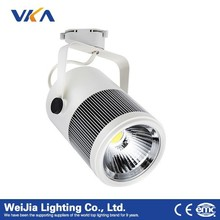 Fast Lead Time High Quality led lamp high cri White/black/silver Finish Rail Track 4 Wire Led Lights Manufacturer Rotatable Body