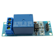 1 low-level relay module with optocoupler isolation 5V12V24V switch with indicator components