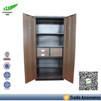 bedroom furniture 2 door wardrobe design with mirror