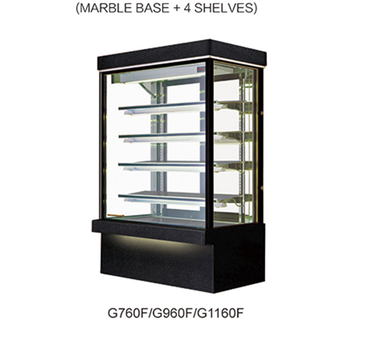 Upright temperature control cake display cabinet refrigerate