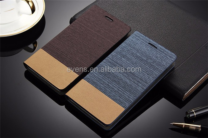Card Holder Slot Mobile Canvas Flip Leather Book Folio Phone Case For Wiko lenny2
