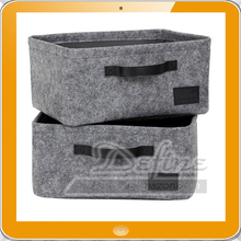2017 felt storage basket Gray Small Woven Felt Baskets 5mm
