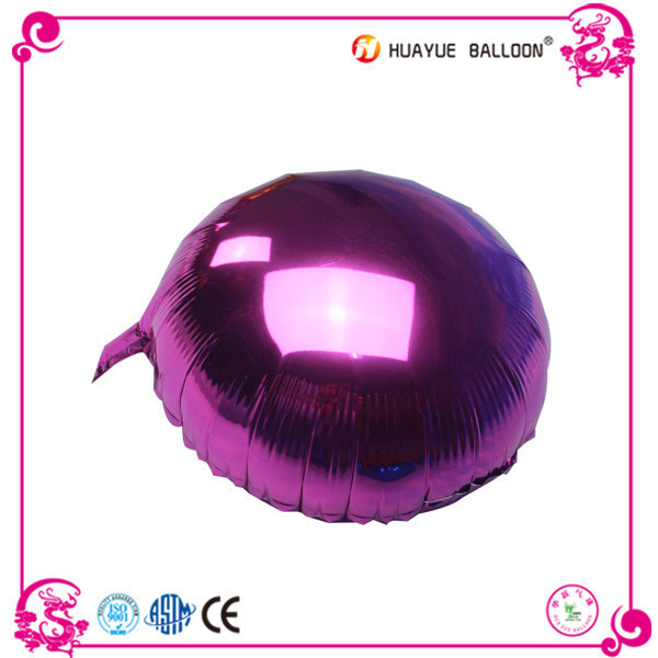 24 inch Round shape solid color foil mylar balloon for decoration
