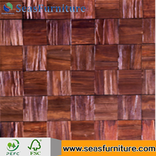 Cedar solid wood wall panels 3D wall panels