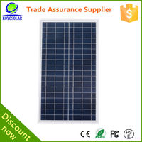 Polycrystalline photovoltaic cell solar panels 50 watt for solar lighting system