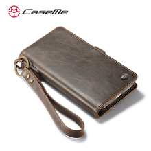 CaseMe New Arrival 2 in 1 Wallet Leather Case For Apple iPhone 6s 6 stand flip cover with wrist strap