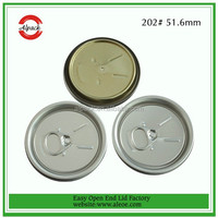 202# Aluminum Beverage Easy Open End Can Lid