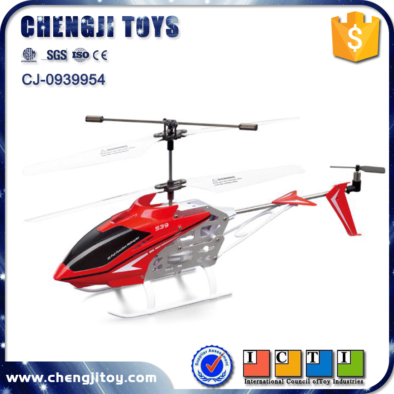 Remote Control Aircraft alloy helicopter 2.4G 3ch rc flying airplane diecast model copter with USB