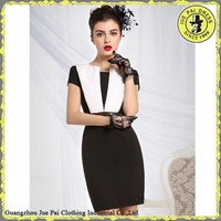 Short Sleeves Elegant Mature Women's Office Uniform