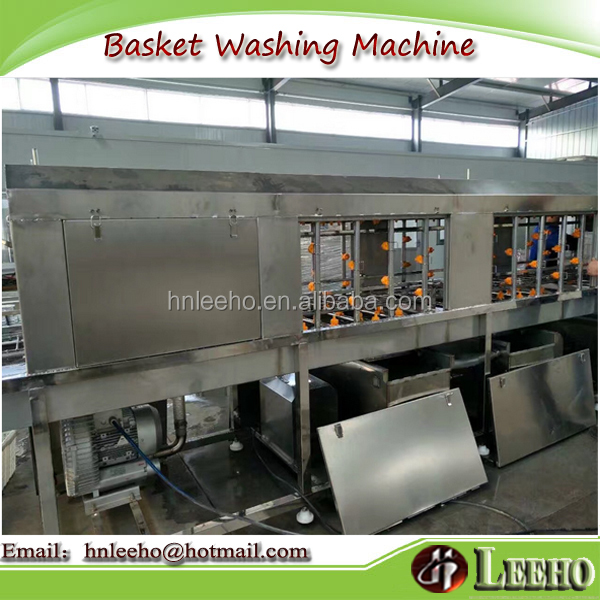 vegetable basket washing machine/poultry crate washer/plastic pallets washing machine