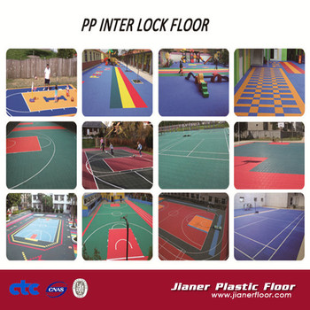 Anti-slip PP modular interlocking flooring