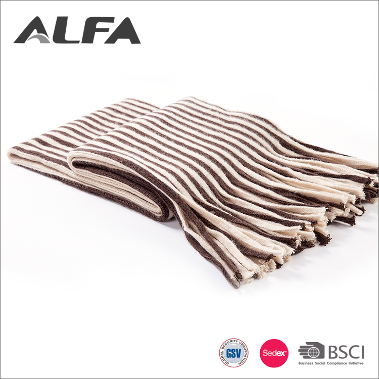 Alfa China Manufacturer New Design Acrylic Fibers Plain Scarf Fabric With Tassel