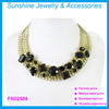 Sunshine acrylic beads necklace women gold chain collar necklace