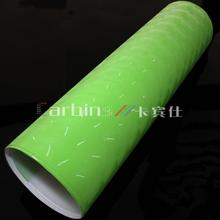 Green 4D cat eye vinyl roll pvc film for car wrapping , bubble free car body color changing sticker printing
