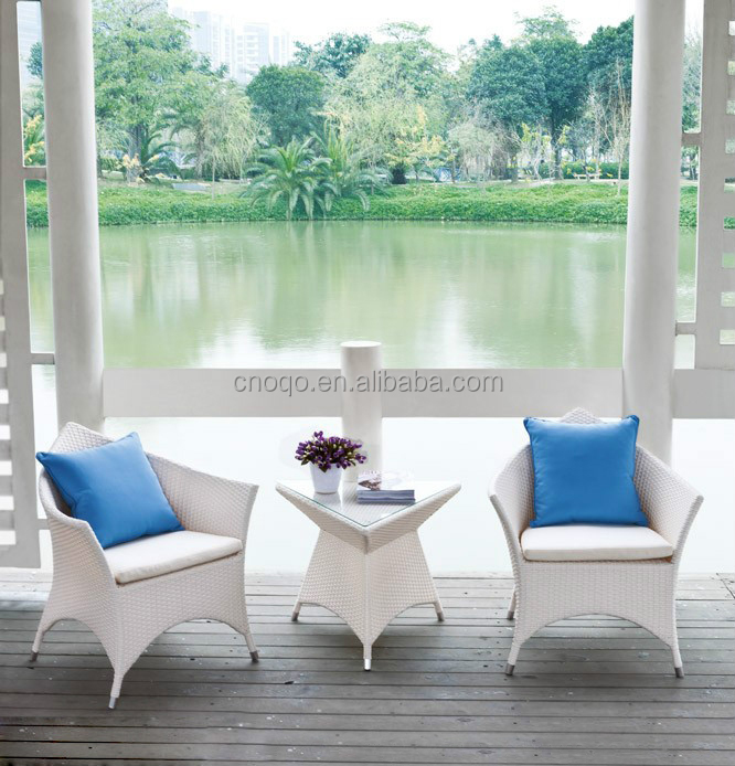 Garden Outdoor Furniture / Rattan Outdoor Furniture Coffee Shop Tables And Chairs (Z304)