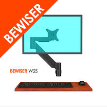NEW gas spring wall mount bracket 360 degree LCD monitor arm (BEWISER W2S)
