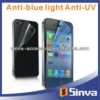 2013 Factory Supply 100% Anti UV Anti Blue Light Screen Protector for iphone5S/5C