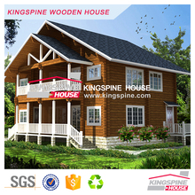 Wooden hotel 2-floor Wood house prefabricated log cabin KPL-102