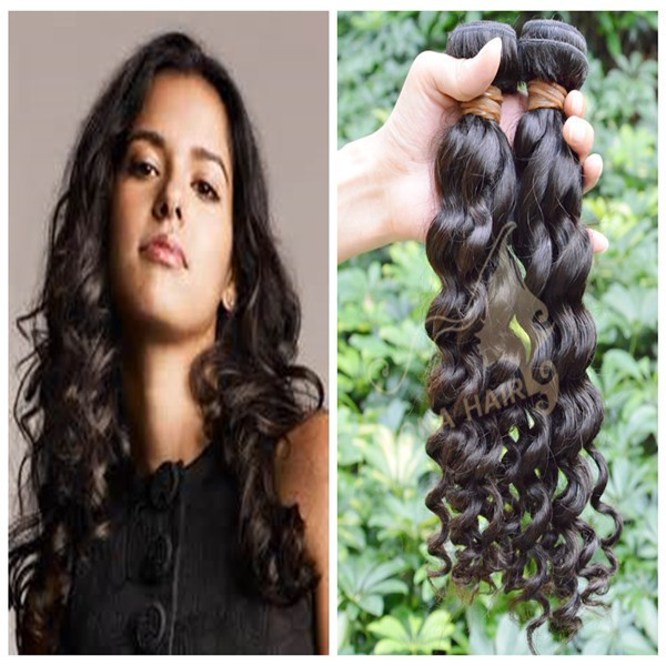 Mona hair black hair dealer deep wave 100% no chemicals indian sew in human hair extension