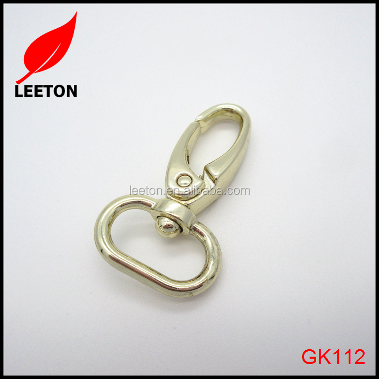 Zinc alloy 0.75inch swivel bag snap hook