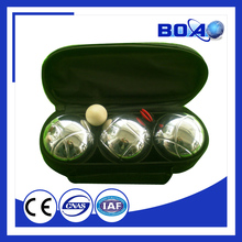 out door game petanque set/3pcs boules set/3 metal balls with bag