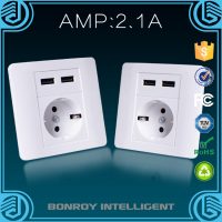 german pattern pc material lan wall socket with usb