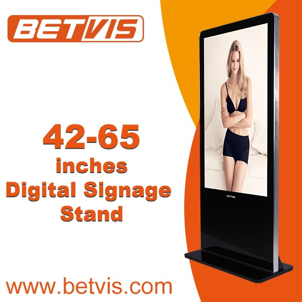 Easy-to-install indoor advertising lcd video wall floor stand