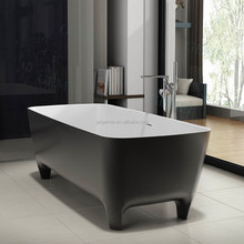 Popular sale oval composite artificial stone very small bathroom bathtub