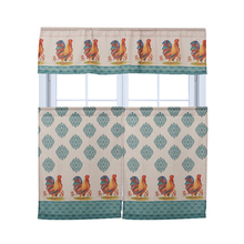 Machine Wash Microfiber Rooster Fancy Window Curtain