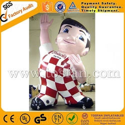 Standing inflatable boy character balloon inflatable cute boy for advertising F1004