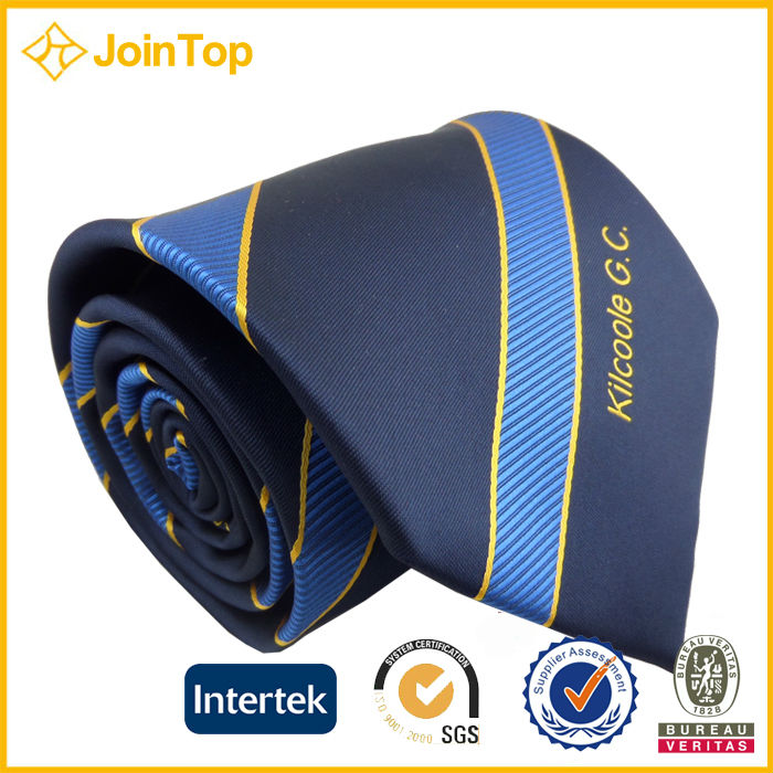 Jointop Customized Fashion OEM Logo Printed Silk Tie