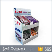 Two Tiers Corrugated Counter Display For Chocolate Candy Promotion
