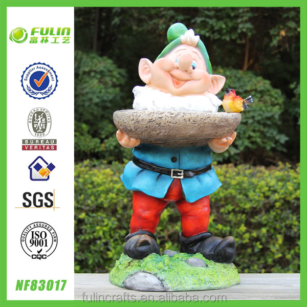 Polyresin Animal Bird Feeder Garden Gnome Decor